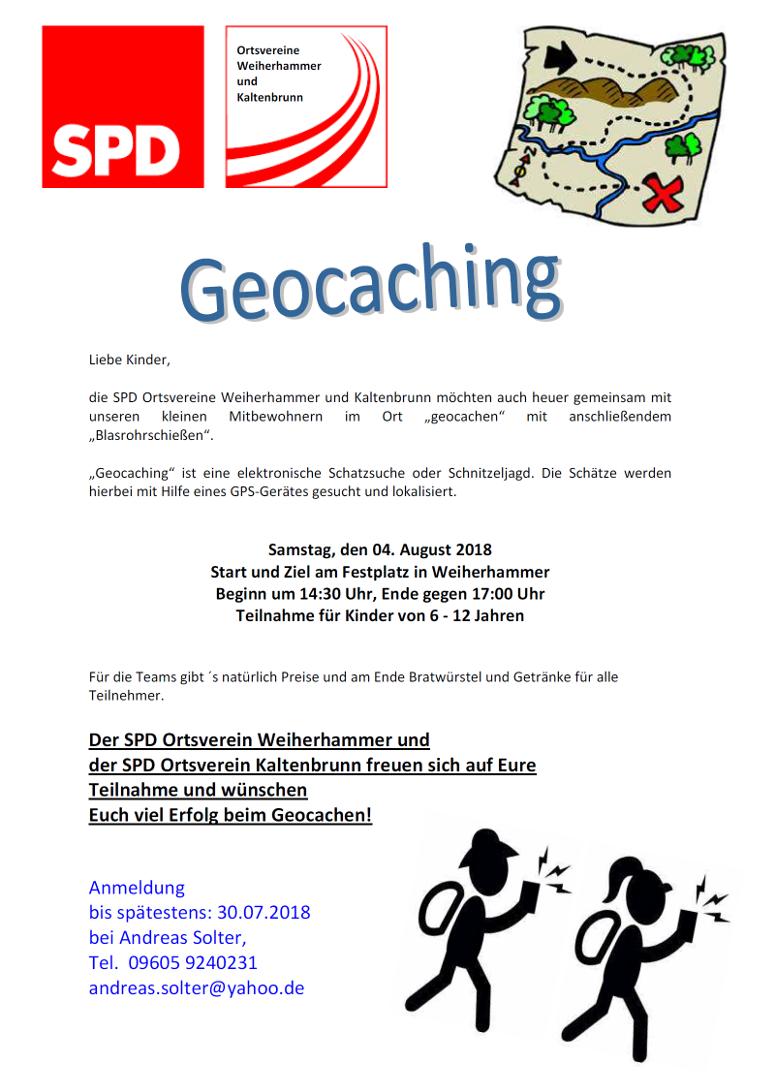 Geocaching SPD Weiherhammer und Kaltenbrunn